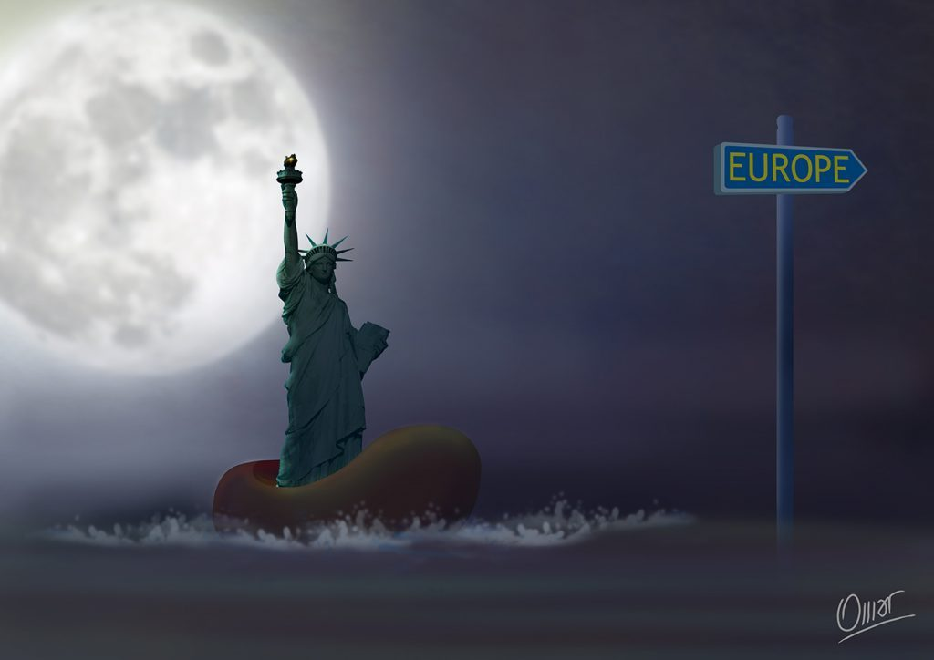 Europe Exodus Lady Liberty